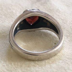 James Avery Jewelry - James Avery Retired Garnet Heart Ring Size 6